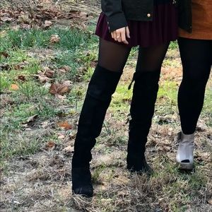 Joie black suede over the knee boots